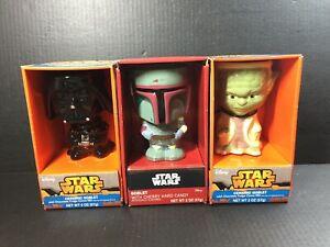 Star-Wars-Ceramic-Goblet-Figural-Shaped-Mug-LOT-DARTH-VADER-BOBA-FETT-YODA-NIB