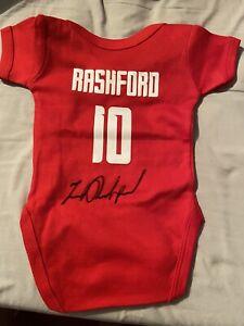Marcus Rashford Manchester United Signed Baby Grow