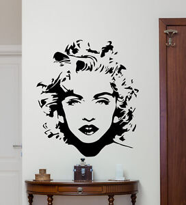 Madonna wall decal celebrity pop music vinyl sticker art for Celebrity mural