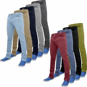New-Mens-Stretch-Chino-Trousers-Stretch-Skinny-Slim-Fit-Soft-Cotton-Jeans-28-40