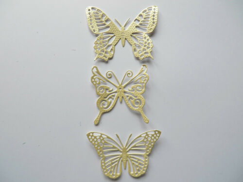 mixed pack 3.5cm x 2.5cm 48 Beautiful Filigree Die cut Butterfly/'s 19 colours