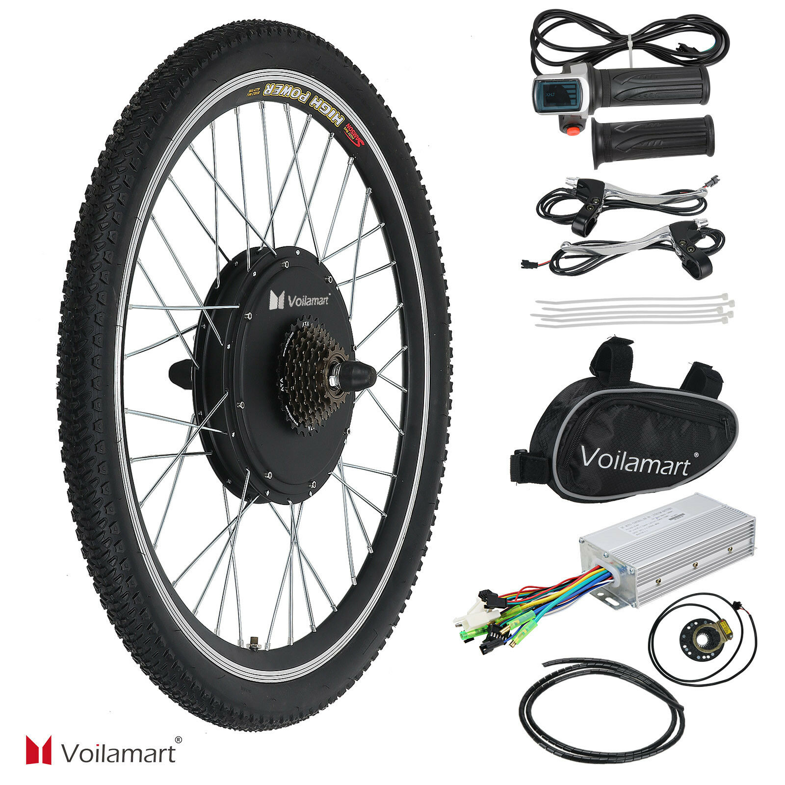 26  Electric Bike Rear Wheel Bicycle Conversion Kit 1000W Hub Motor 48V Cycling