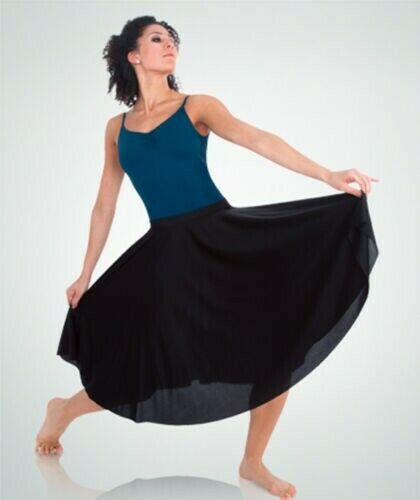 Body Wrappers Dance Fever Below-The-Knee Circle Skirt