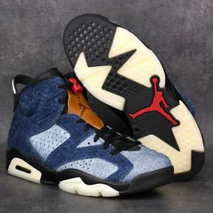 Air-Jordan-6-VI-Retro-Black-Washed-Denim-CT5350-401-Basketball-Shoes-Sneakers