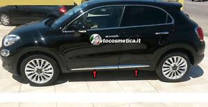 MODANATURE-ADESIVE-CROMATURE-LATERALI-FIAT-500X-14-18-ACCIAIO-INOX