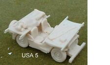 WWII ALLIED JEEP con barelle Modello in RESINA KIT-A5