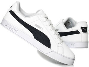a72b7938a45 Image is loading PUMA-Mens-Smash-Vulc-Leather-Trainers-Shoes-359622-