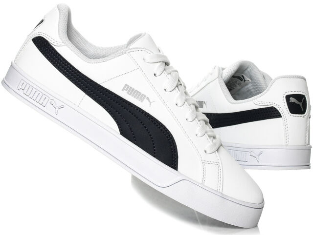 PUMA Smash Vulc Shoes Retro Sneaker White Peacoat 359622-10 UK 8 for ... bc04ed2bc