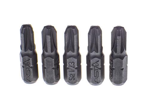"""A-12256 PZ3 Pozidrive 1//4/"""" Hex Insert Bit S2 Acier 25 mm Long Pack 1,2,5,10,20"""