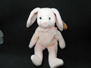 Rare Beanie Baby - Hoppity the Rabbit - 1996 - Mint with Mint Tags - PVC Fill