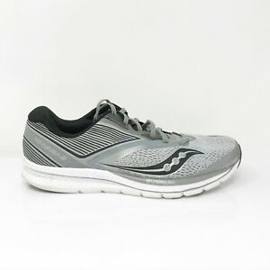 Saucony Mens Kinvara 9 S20418-3 Gray Black Running Shoes Lace Up Low Top Size 11