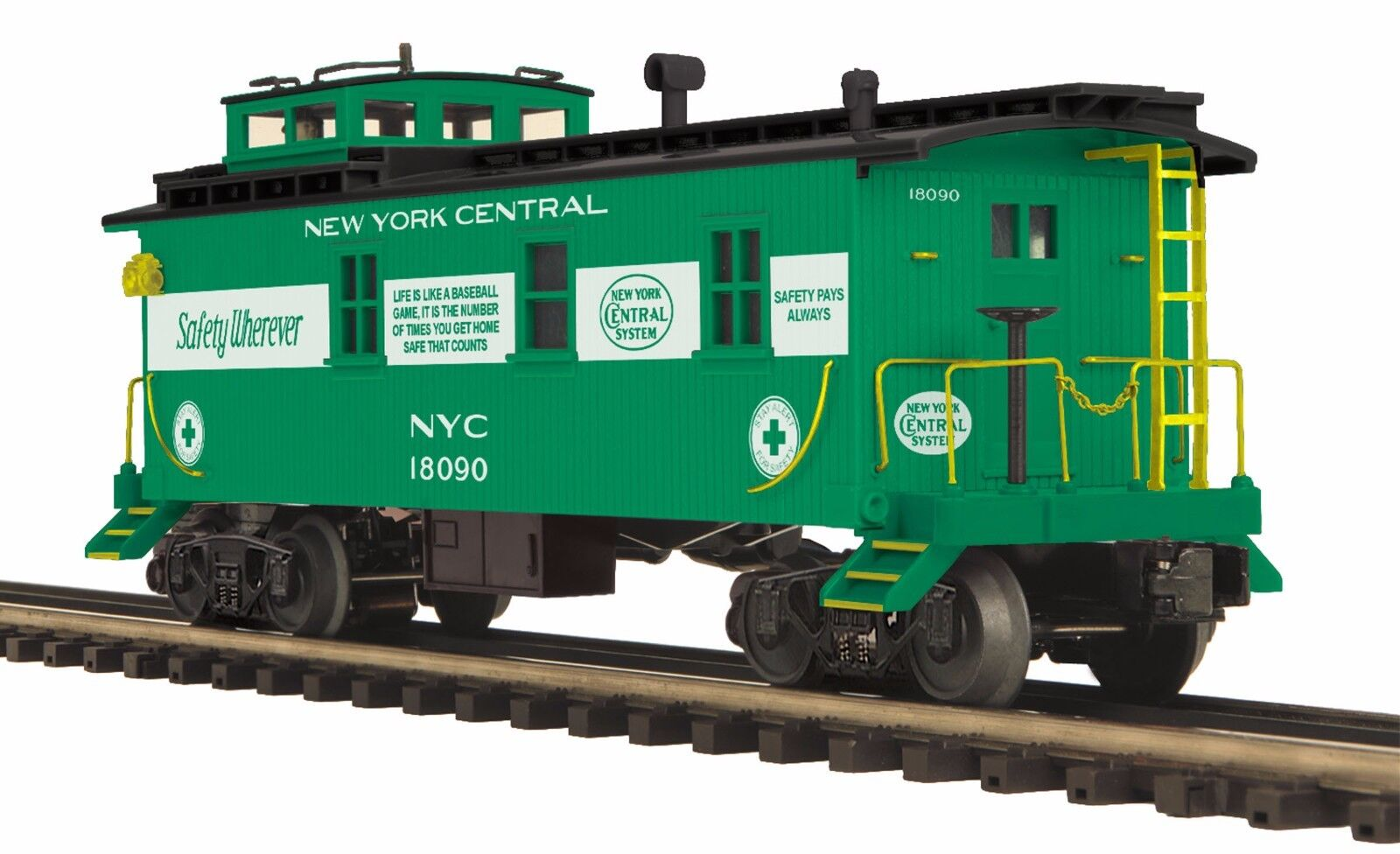 20-91598 New York Central 35' Woodsided Caboose () - MTH Premier