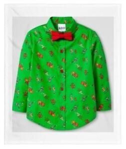 6b5a5e023 Toddler Boys Dr. Seuss How Grinch Stole Christmas Button Down Shirt ...