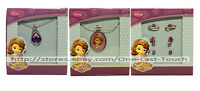 Disney Jewelry Sofia The First Necklace +charms+earrings For Kids You Choose