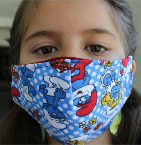 660 KIDS Face Mask The Smurfs Face Cover REUSABLE