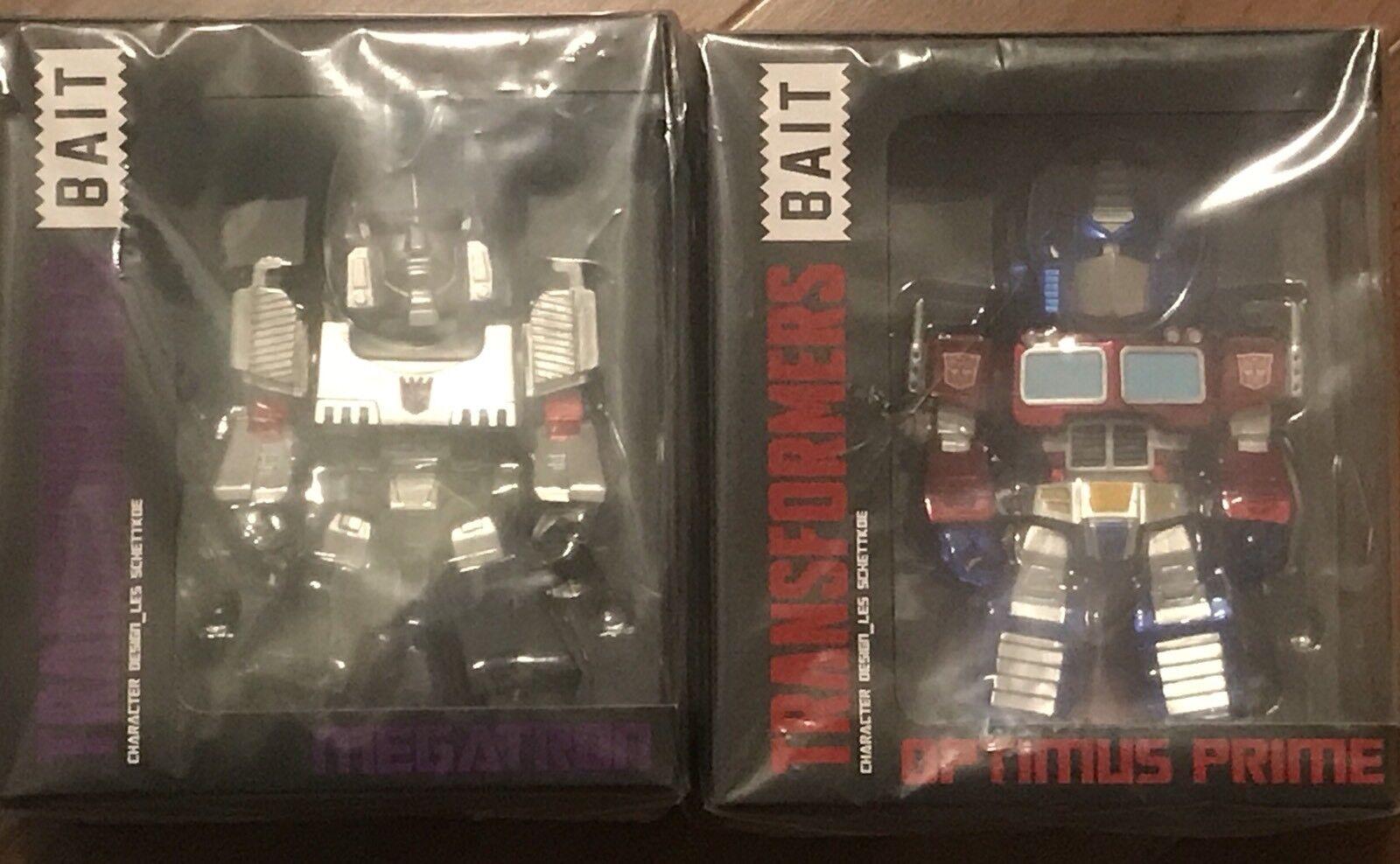 """SDCC BAIT Transformers 6"""" Optimus Prime Megatron Exclusive Hasbro Comic Con LE"""