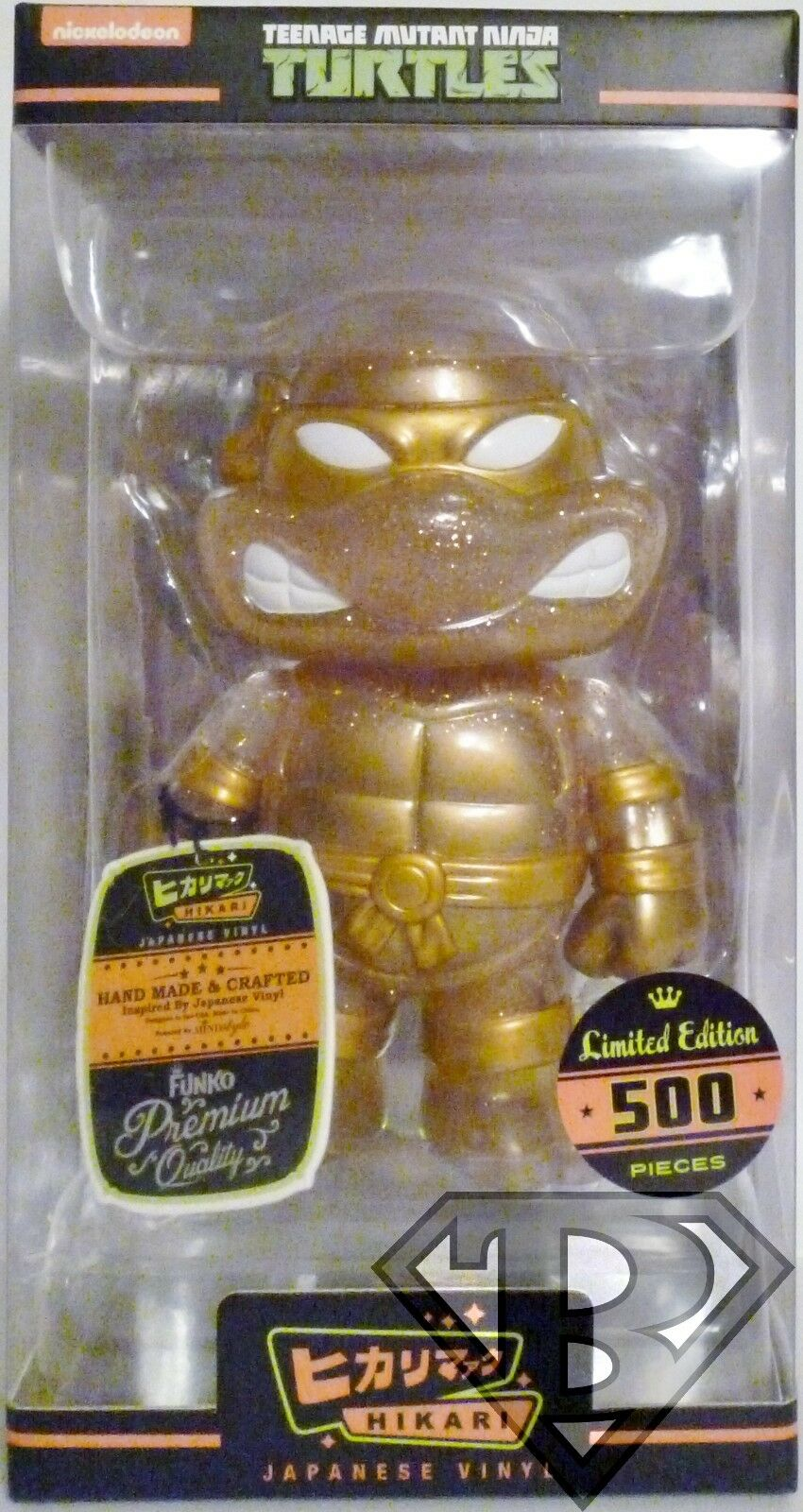 Teenage Mutant Ninja Turtles Hikari Sofubi Gold Glitter 6