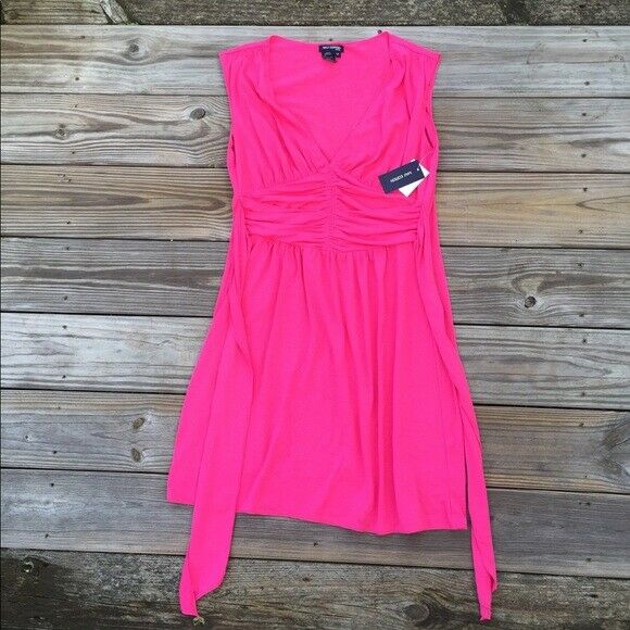 Max Edition NWT bright Rosa stretch dress Größe Large Petite Brand New