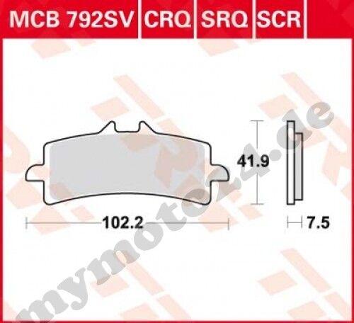 2015 TRW Lucas mcb792crq Plaquette de frein Ducati 1299 Panigale S Bj