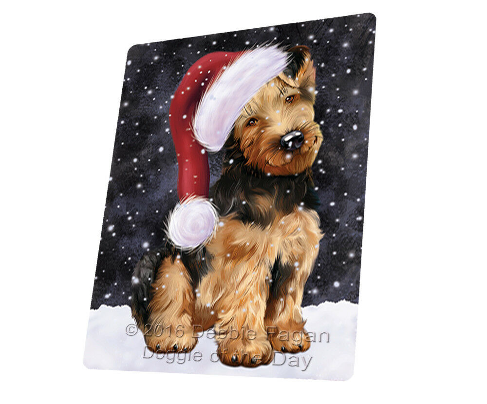 Let it Snow Christmas Holiday Airotale Dog Woven Throw Sherpa Blanket T340