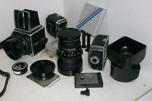 HASSELBLAD-500C-EQUIPO-FOTOGRAFICO-original-camara-objetivos-Magazines