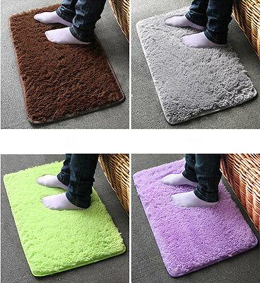 Fad Absorbent Fresh Plush Velvet Slip Dust Doormat Bathroom Floor Rug Mats JCAU