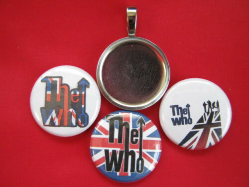 The Who Band W// Handmade Interchangeable Magnetic New  Pendant w//Black  Necklace