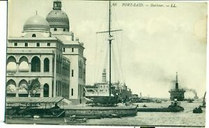 POSTCARD-EGYPT-Port-Said-harbour-LL-66