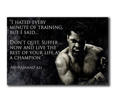 T-519 Art Poster muhammad ali fitness-motivation-ali Hot Silk 24x36 27x40IN