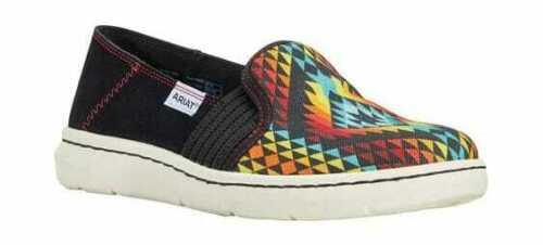 Women/'s Ariat Ryder Slip On Sneaker Rainbow Aztec Textile