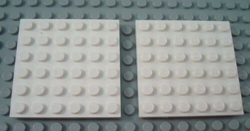 LEGO Lot of 2 White 6x6 Plate Pieces