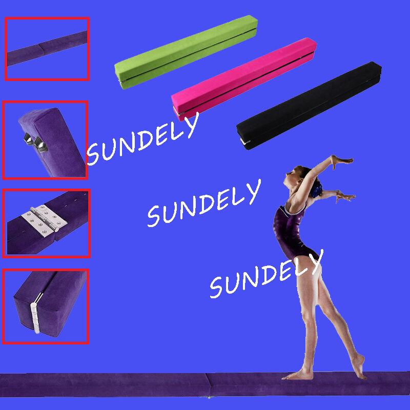 UK Gymnastics Folding Balance Beam 2.1M Hard Wearing Faux Home Gym Training NEW