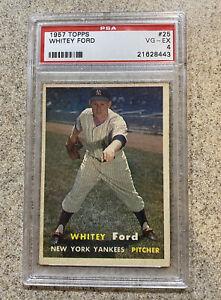 1957-Topps-Whitey-Ford-25-PSA-4-VG-EX-New-York-Yankees-Vintage-Baseball
