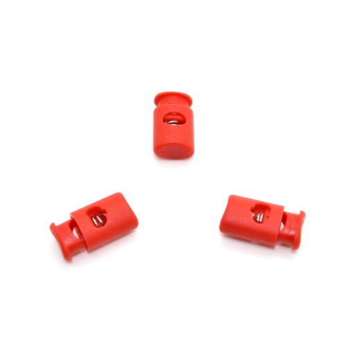Trou Unique Cordon bouchon serrure toggle stop fin ⋆ metal spring ⋆ sanglante red B162 ⋆