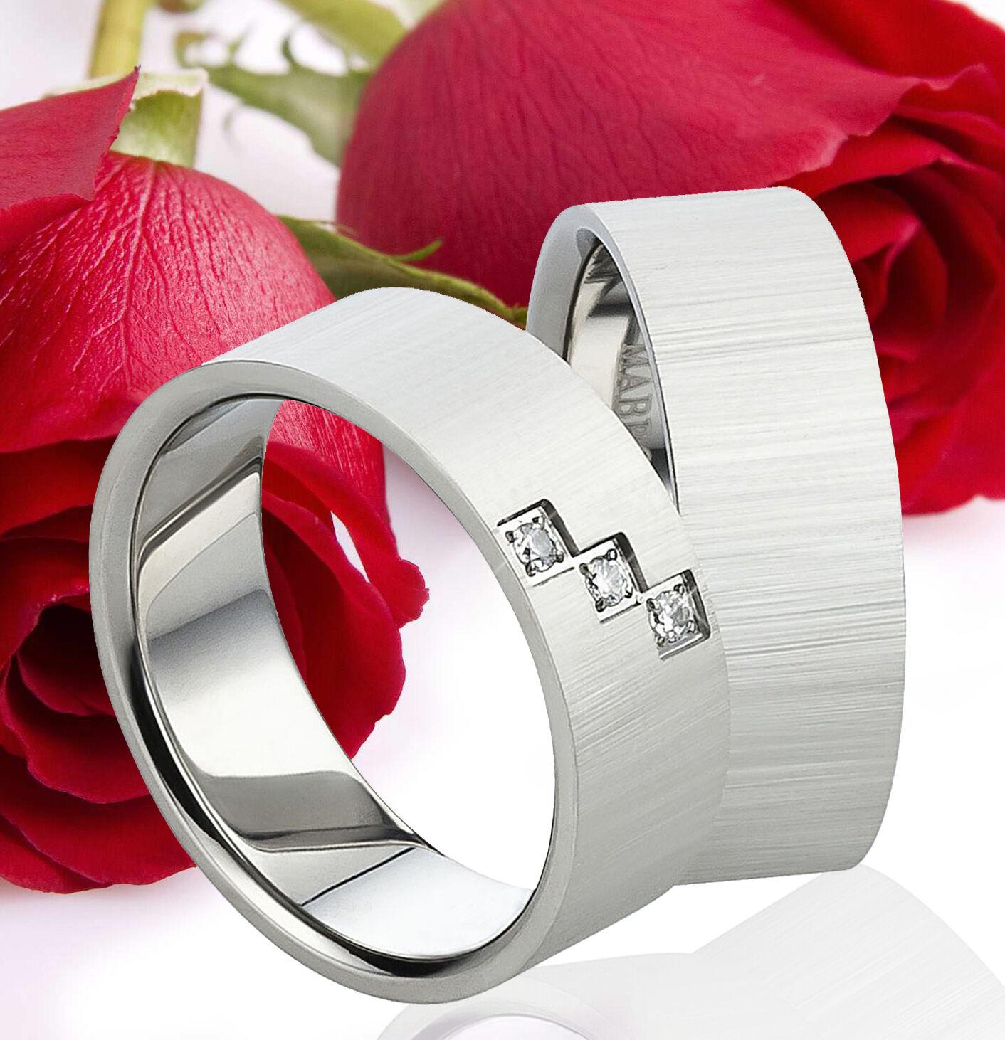 Partnerring Sterling Silber Zirkonia Libelle Verlobungsring Logical Damen Ring