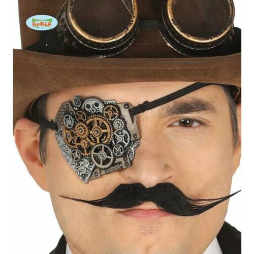 Steampunk Style Eyepatch with Cog Detail Victorian Halloween Fancy Dress