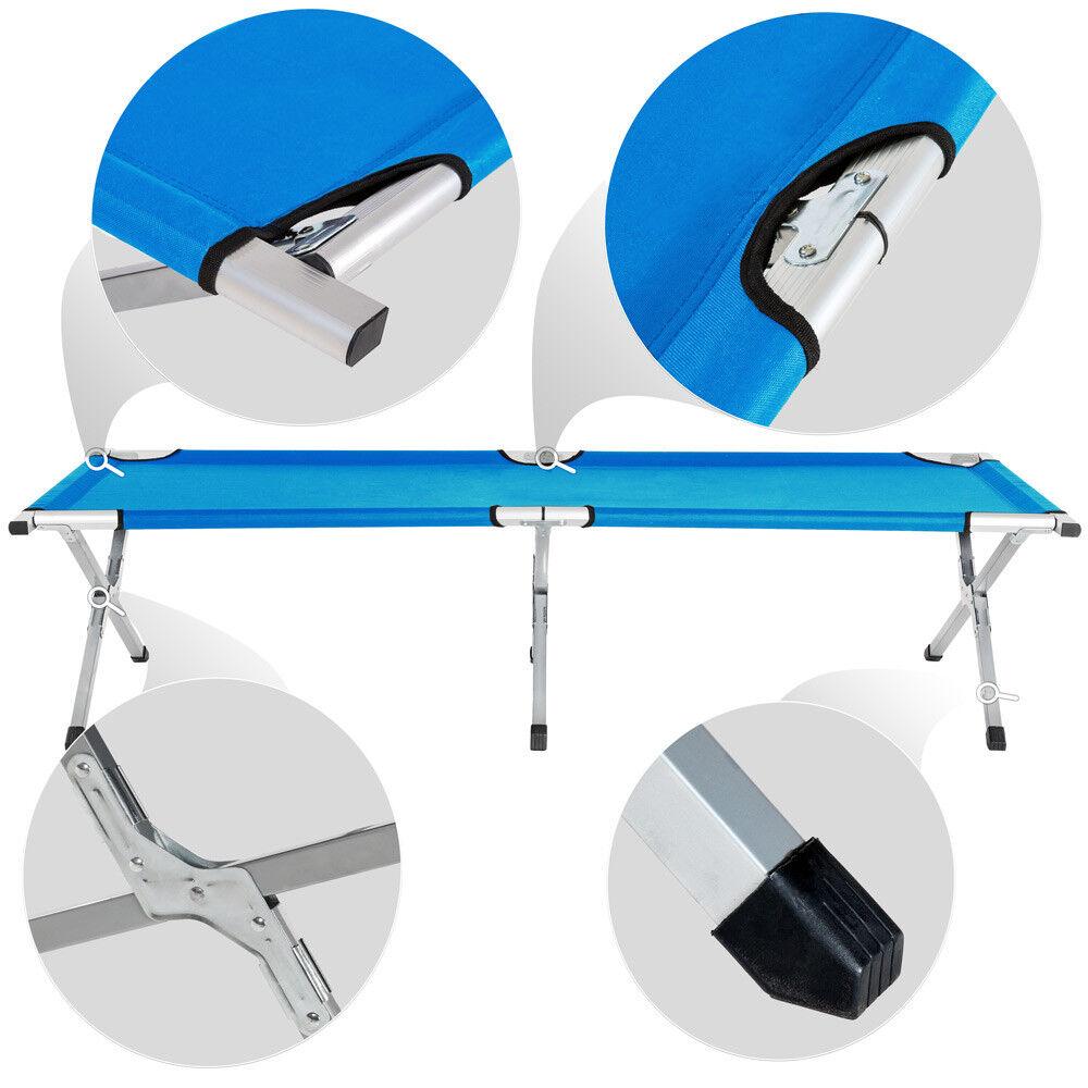 4x Lettino letto campeggio brandina da campeggio letto XL camping pieghevole + borsa blu nuovo 10bc29