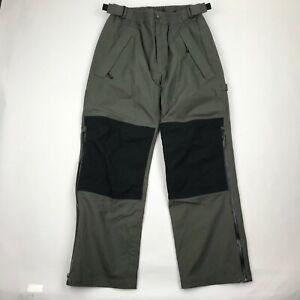 Cabelas Hombres Verde Nylon Cintura Elastica Pantalones De Aventura Al Aire Libre Talla S Ebay
