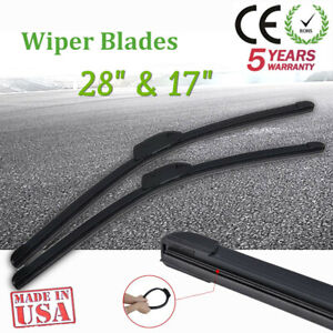 "Pair Windshield Wiper Blades J-hook Quality 26/"" /& 22/"" Inch Bracketless Frameless"
