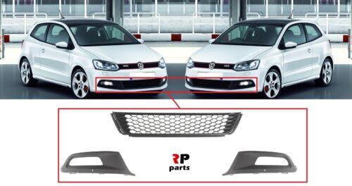 Per VW Polo 6R GTI 09-14 Paraurti Anteriore Foglight Griglia COPPIA CON GRIGLIA INFERIORE