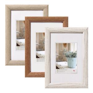 Interieur Holz Bilderrahmen in 10x15 cm bis 50x70 cm Grau Nuss Weiß ...