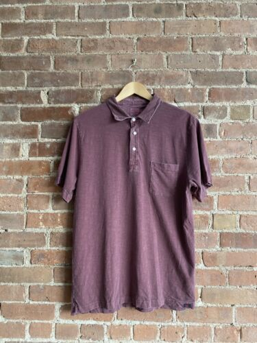 Faherty Mens Polo, Sz Large Sun-dried Cranberries,