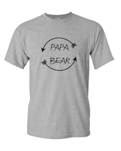 Papa Bear #2 T Shirt Dad Bear Family Fathers Day Gift Tee New Daddy T-Shirt