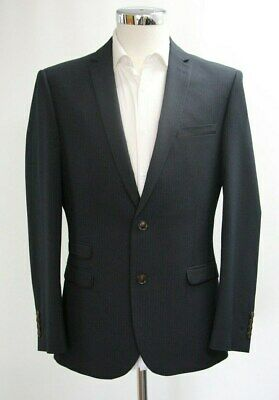 100% Vero Men's Harry Brown 2pc Suit In Nero A Righe (40r)... Campione 4718-mostra Il Titolo Originale Vendita Calda 50-70% Di Sconto