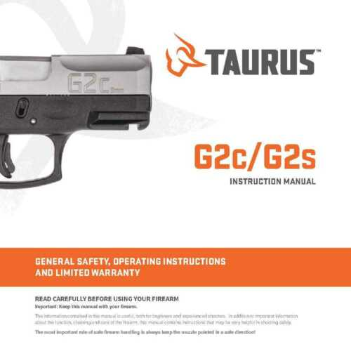 Copy Taurus G2c G2s Instruction Owner/'s Manual