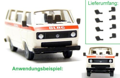 Mickon 90080 8x Außenspiegel passend für Roco VW T3 Bus Spiegel 1:87 H0