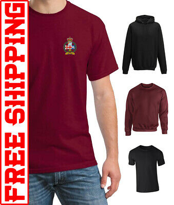 5 COLOURS LEICESTERSHIRE /& DERBYSHIRE YEOMANRY CAP BADGE PRINTED ON A T SHIRT