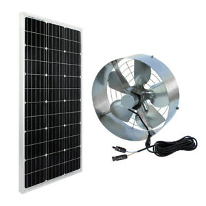 Solar Power Fan >> Details About High Flow 65w 3000 Cfm Solar Panel Powered Vent Fan Cooler Ventilator For Attic