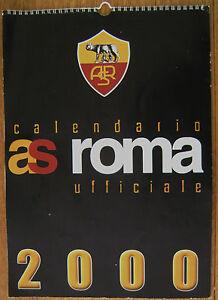 Calendario Asroma.Details About A S Roma Official 2000 Calendar Totti Montella Capello Etc