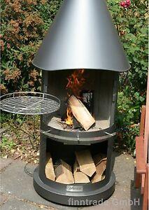 gartenkamin grillkamin grill terrassenkamin 100 edelstahl fahrbar rollen ebay. Black Bedroom Furniture Sets. Home Design Ideas